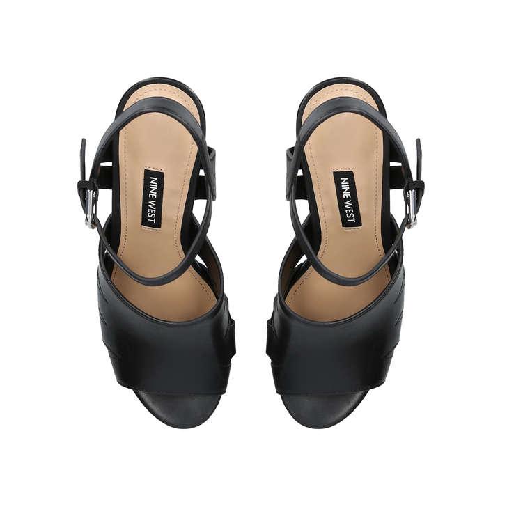 9e41237eaccd Delilah Black Block Heel Sandals By Nine West | Kurt Geiger