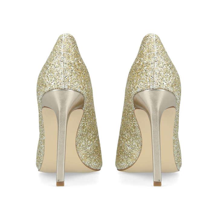 895585ec5bf4 Tatiana Metallic Gold Stiletto Heel Court Shoes By Nine West | Kurt Geiger