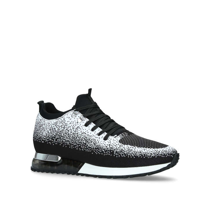 Tech Runner Contrast Black And White Lace Up Trainers By