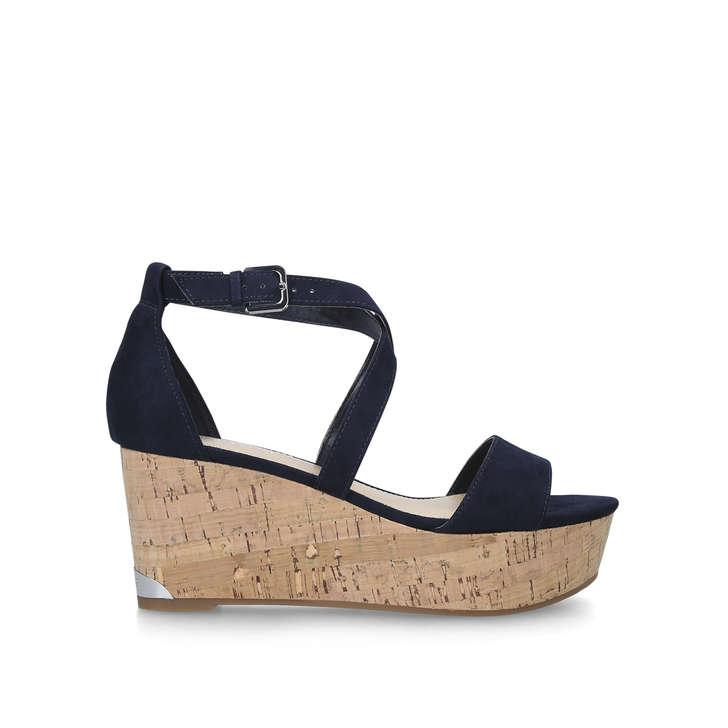 1239454e0d Violet Blue Wedge Heel Sandals By Nine West | Kurt Geiger