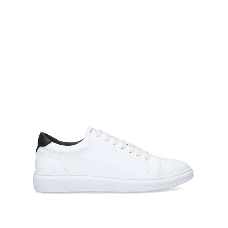 WADE White Lace Up Trainers by KG KURT