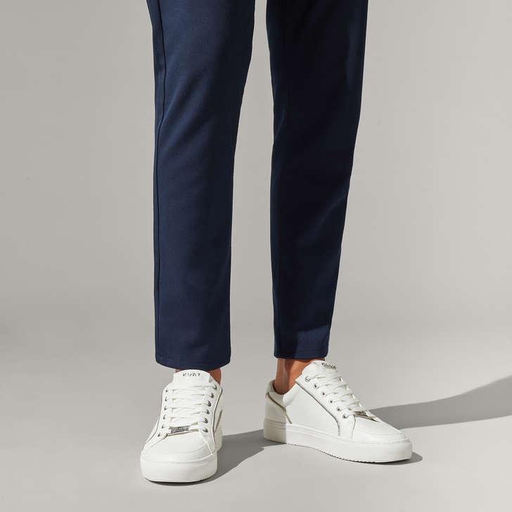 Southgate Zip Sneaker White Lace Up