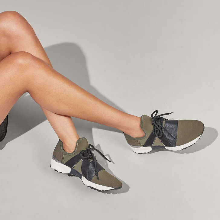 Lament Khaki Lace Up Trainers By