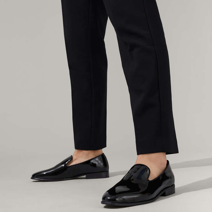 Kloss Black Patent Loafers By KG Kurt