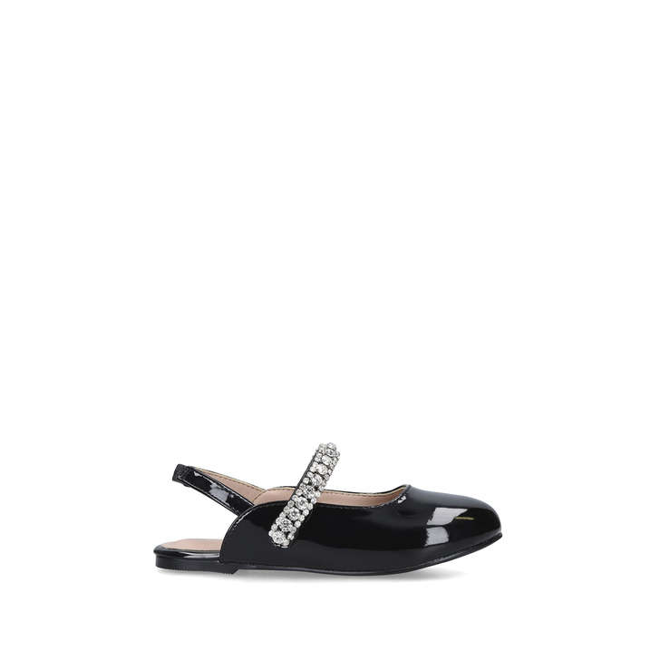 MINI PRINCELY Patent Black Mule With