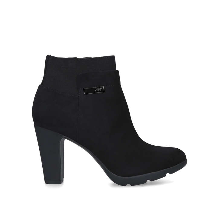first look outlet boutique lower price with Xtream Black Ankle Boots With Heel By Anne Klein | Kurt Geiger