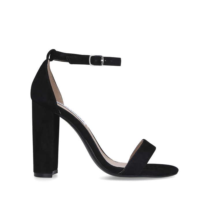 CARRSON Black Block Heel Strappy