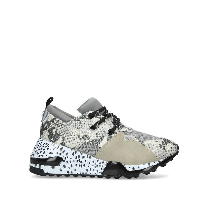 CLIFF Snake Print Chunky Trainers by