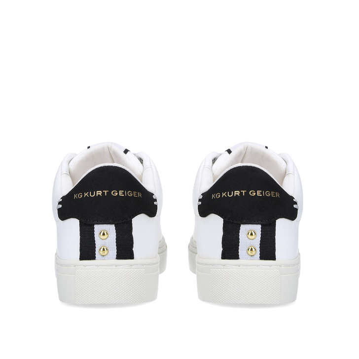 Lister Vegan White Lace Up Trainers By