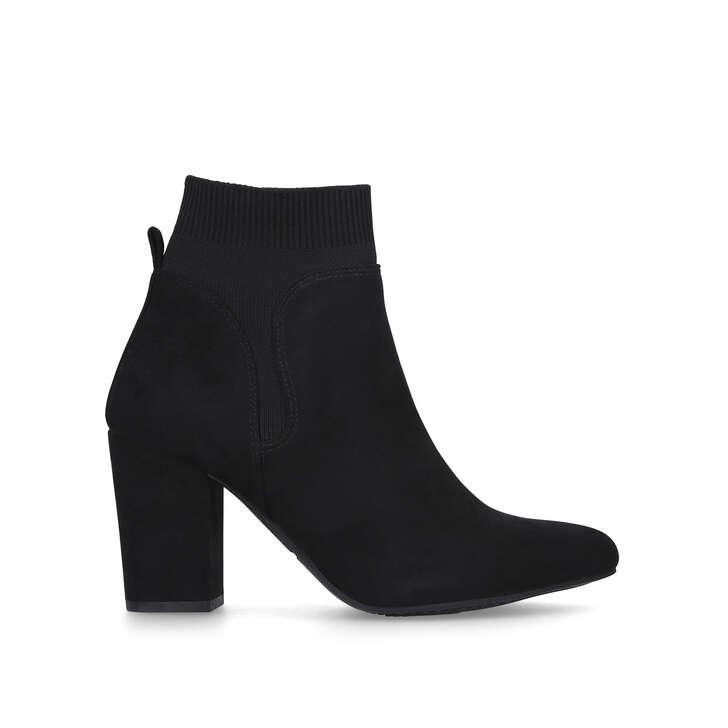 TOBI Black Block Heel Ankle Boots by KG