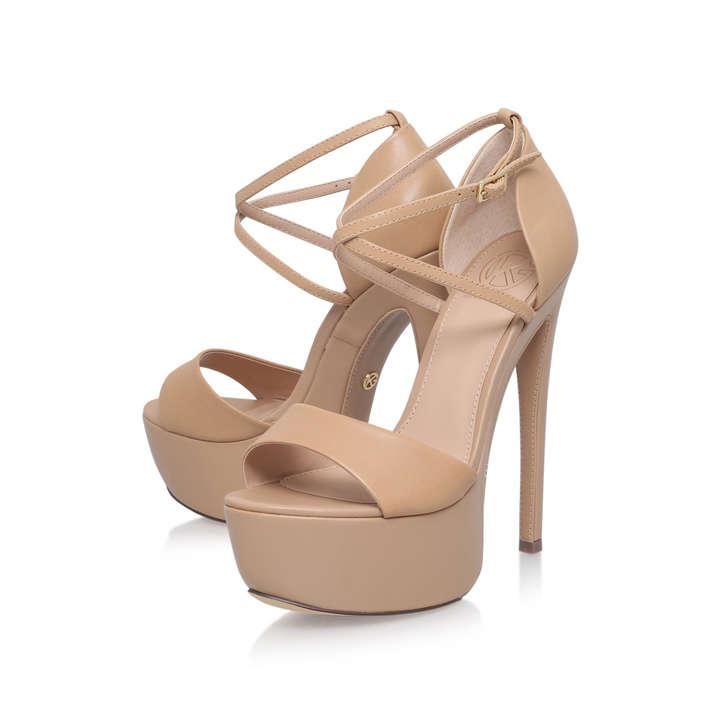 Excite Nude High Heel Sandals By Miss KG | Kurt Geiger