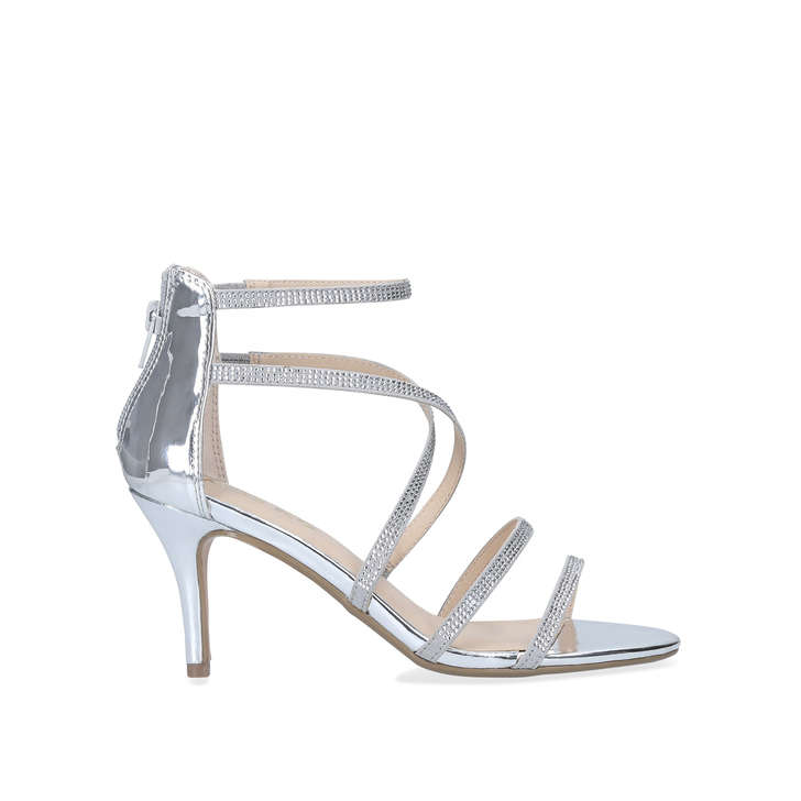 Pipper Silver Embellished Strappy