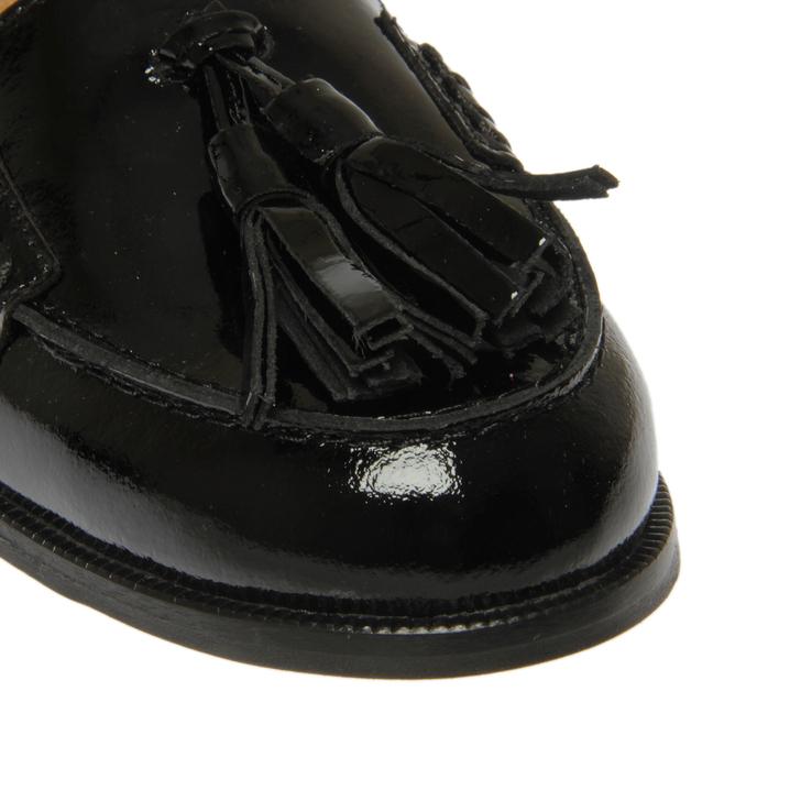 e96daac6c3b Lexie Black Patent Tassel Loafers By Carvela