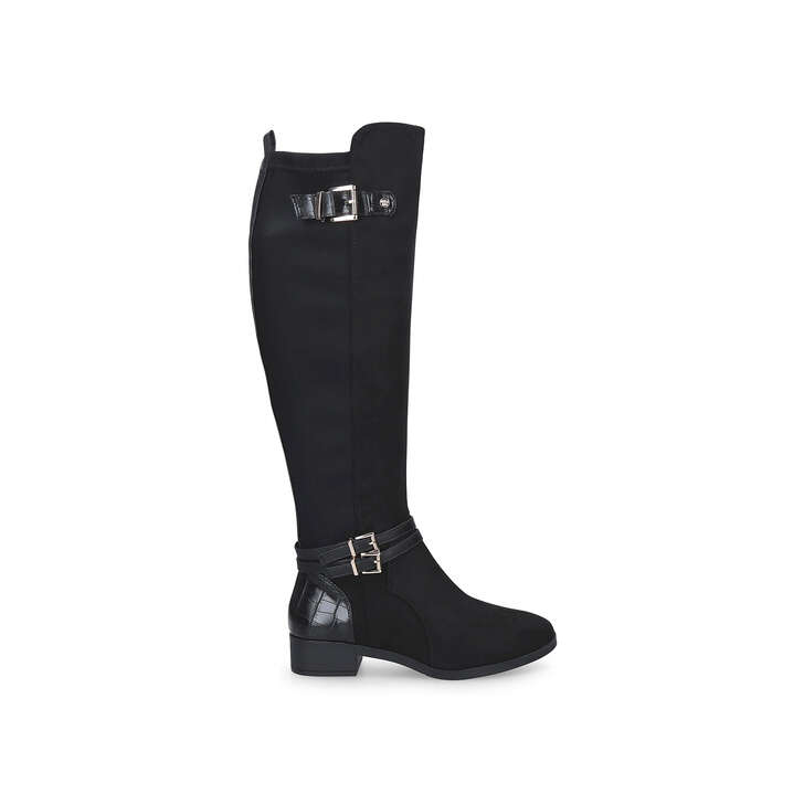 HESTON Black Knee High Boots by MISS KG