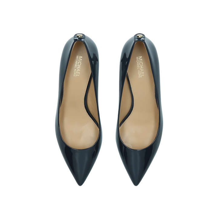 3bc0556af9 Mk-flex Kitten Pump Blue Patent Kitten Heel Court Shoes By Michael Michael  Kors | Kurt Geiger