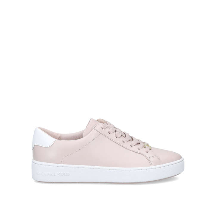 Irving Lace Up Pink Low Top Trainers By Michael Michael