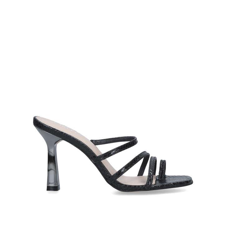 carvela black strappy sandals