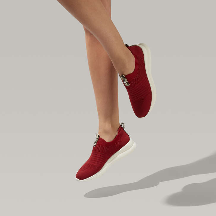 Cosmic Red Sock Trainers By Carvela