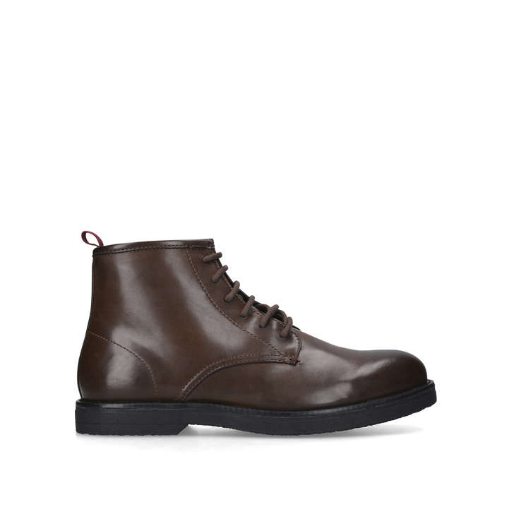special section detailed images famous brand Harrow Dark Brown Lace Up Ankle Boots By KG Kurt Geiger | Kurt Geiger