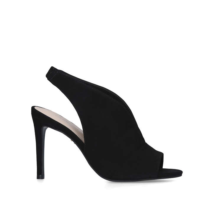 GUILTY Black Slingback Stiletto Heels