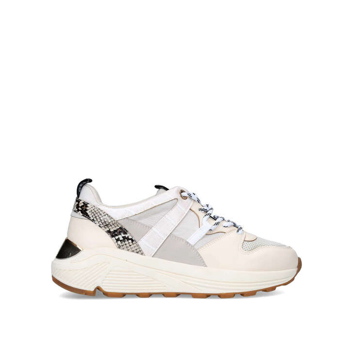 LOADED Cream Chunky Sneakers by KG KURT