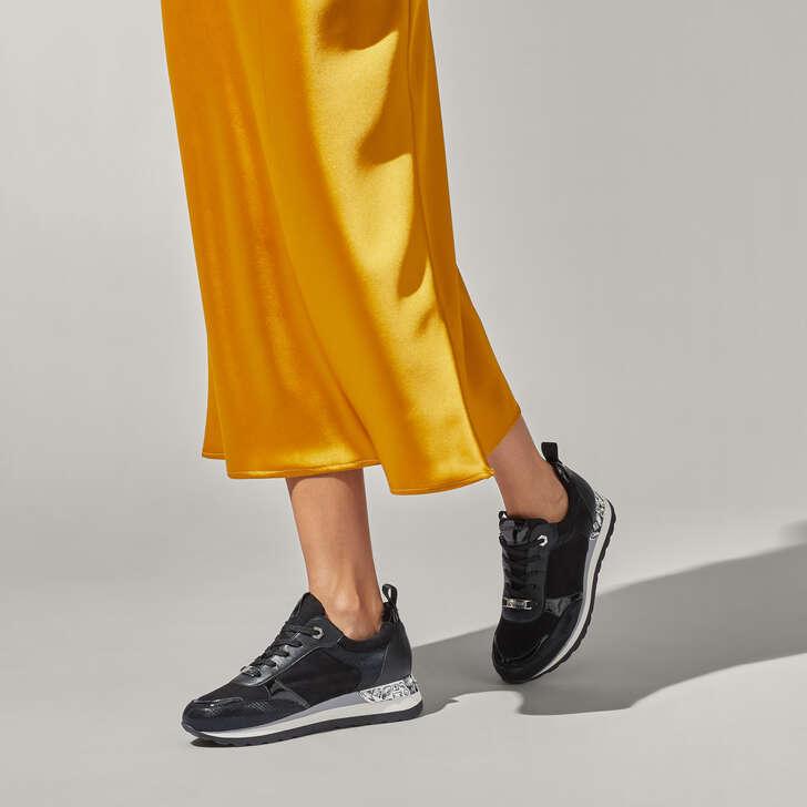 Jemm Black Embellished Sneakers By