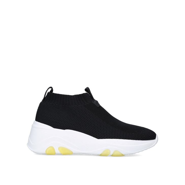 LOTTERY Black Chunky Sock Sneakers by