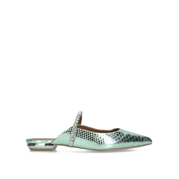 PRINCELY 2 Pale Green Embellished Mules