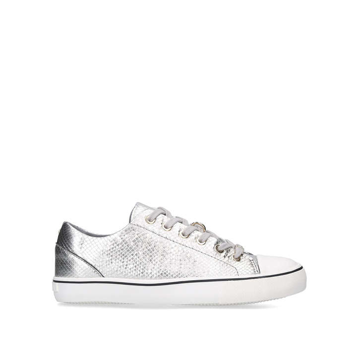 LEGEND Silver Lace Up Trainers by
