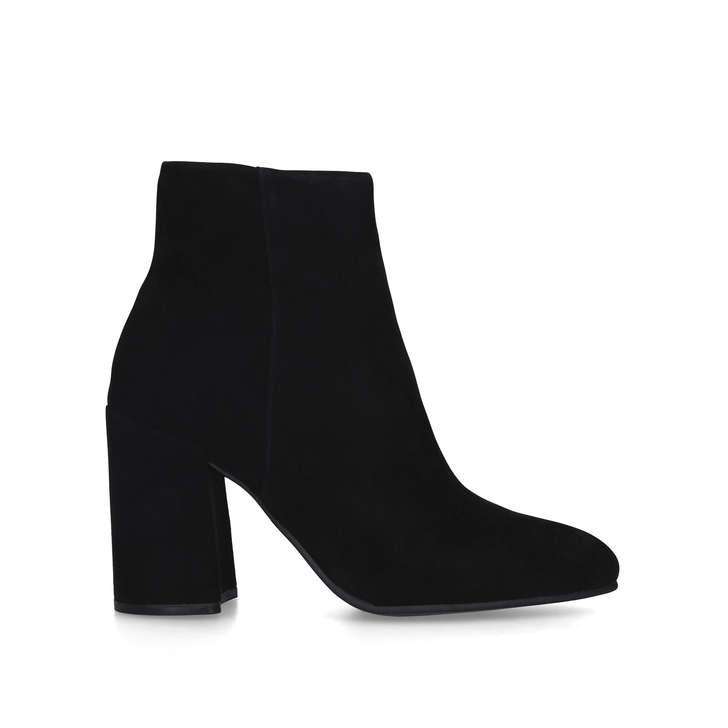 THERESE Black Block Heel Ankle Boots by