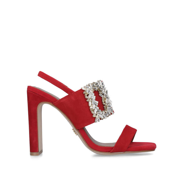 PASCAL Red Square Toe Embellished