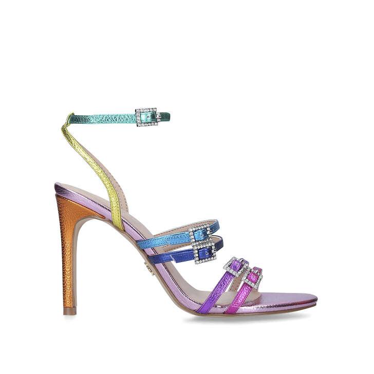 PIERRA Rainbow Stiletto Heel Strappy