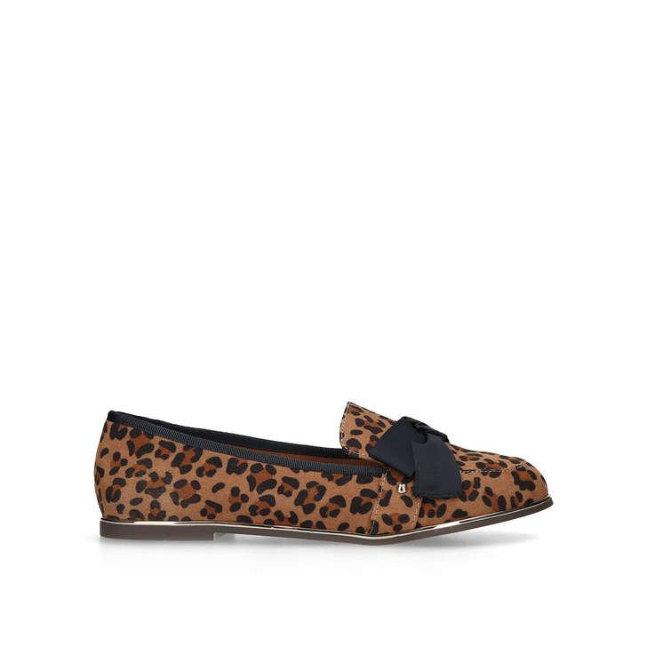 NANCY Leopard Print Loafers by MISS KG