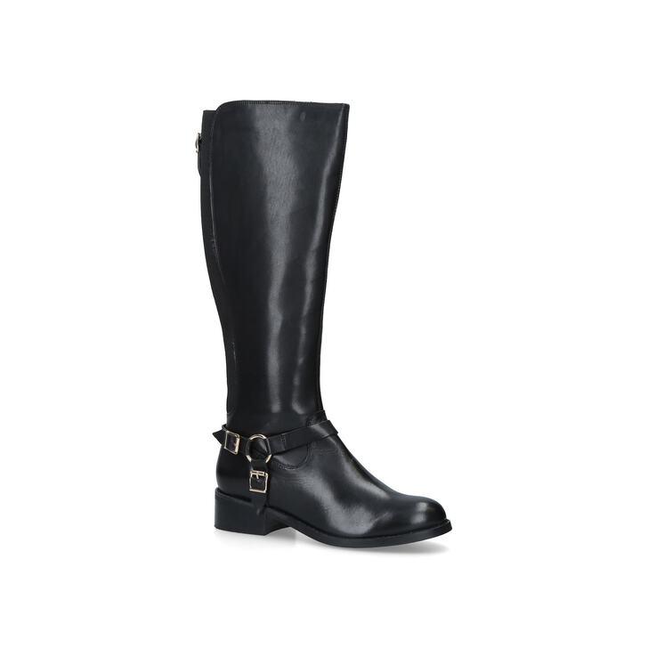 Petra Black Low Heel Knee Boots By Carvela Kurt Geiger