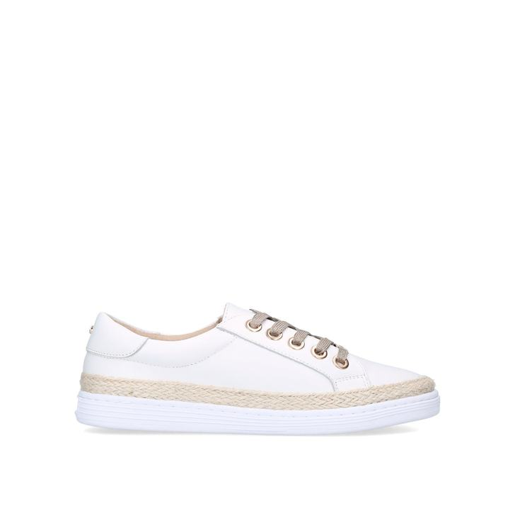 CHIPPER White Lace Up Trainers by