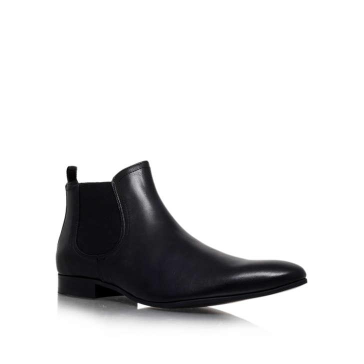 Brando. Black Flat Chelsea Boots