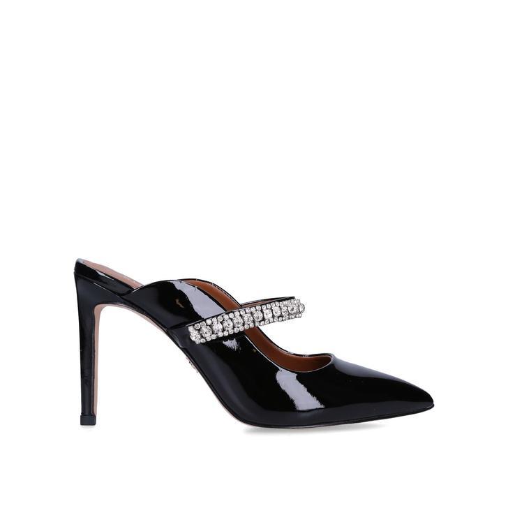DUKE Black Embellished Stiletto Heel