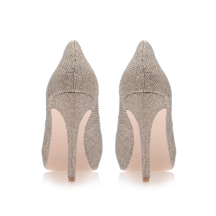 ec56666c7c Lara Gold High Heel Court Shoes By Carvela | Kurt Geiger