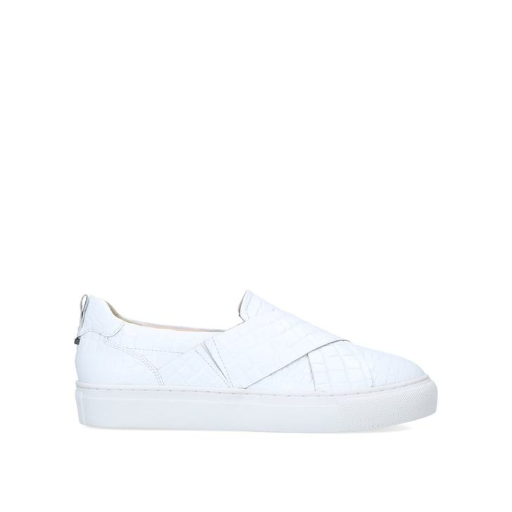LEVI White Slip On Trainers by CARVELA