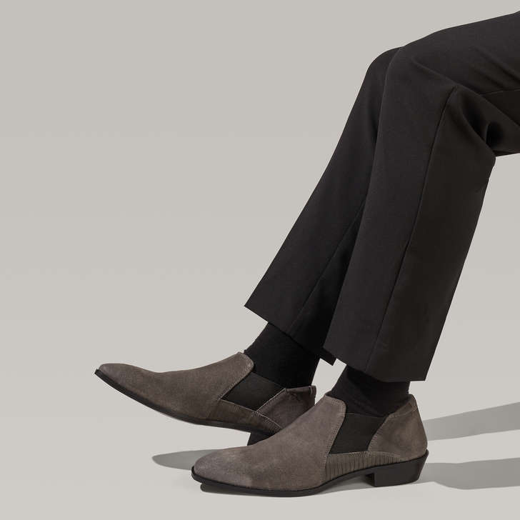 Shaw Grey Slip On Formal Shoes By KG