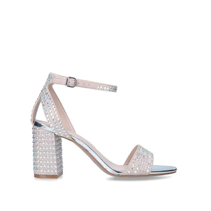 KIANNI Blush Embellished Block Heel