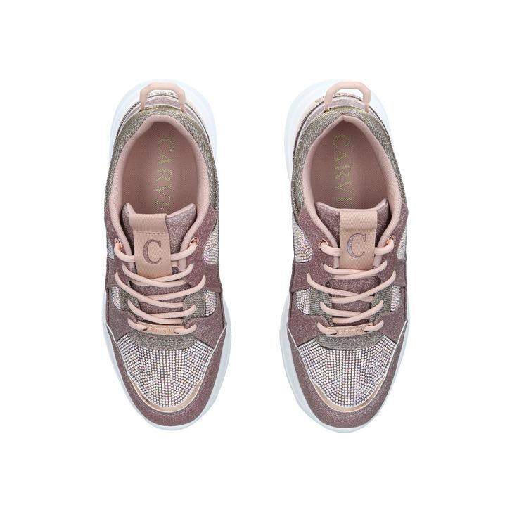 Louder Pink Embellished Chunky Trainers