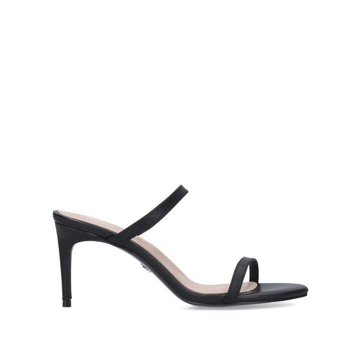 PETRA Black Strappy Sandals by KURT