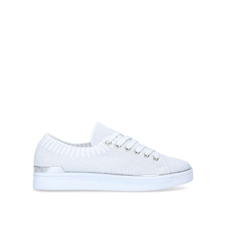 Styx White Lace Up Trainers By Nine