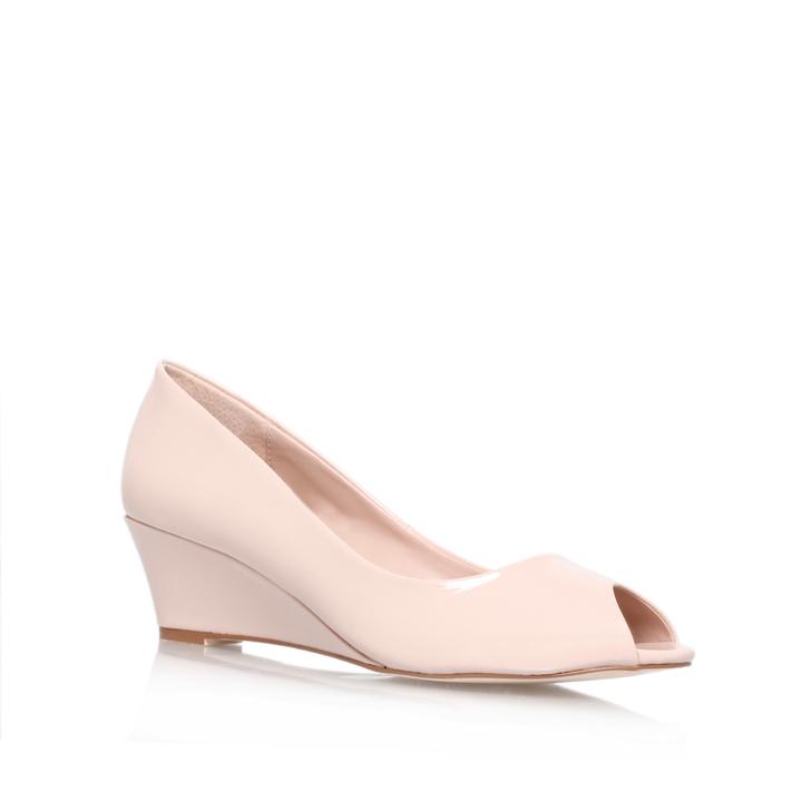 215f953c163 Kim Nude Mid Heel Wedges By Carvela