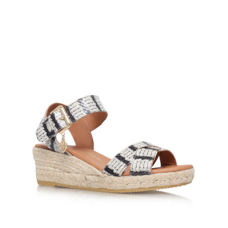Outlet Cost Online Cheap Kurt Geiger Libby - beige low heel wedge sandals Limited Edition Cheap High Quality Supply 8oJ3s7M