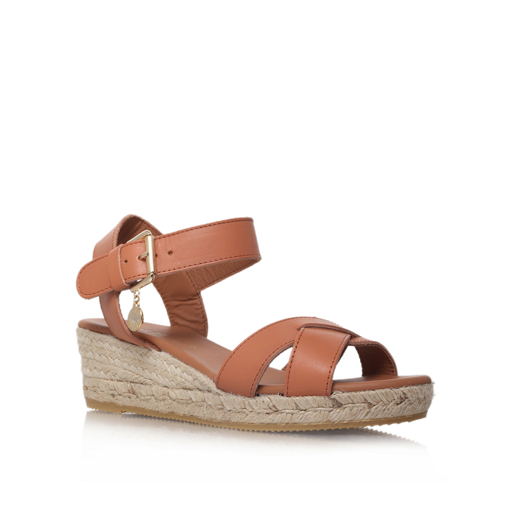 Libby Tan Low Heel Wedge Sandals By Kurt Geiger London | Kurt Geiger