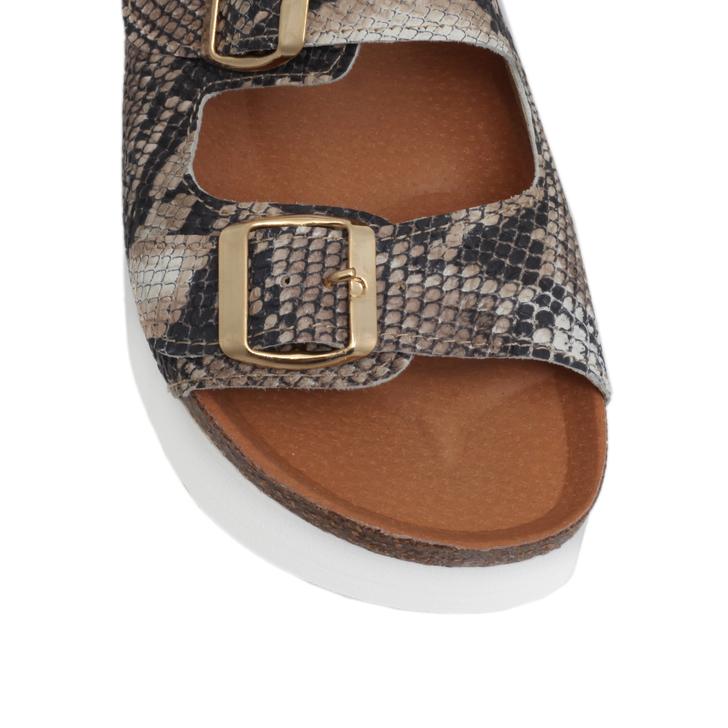 71fa192ac3 Nola Beige Low-heel Platform Sandals By KG Kurt Geiger | Kurt Geiger