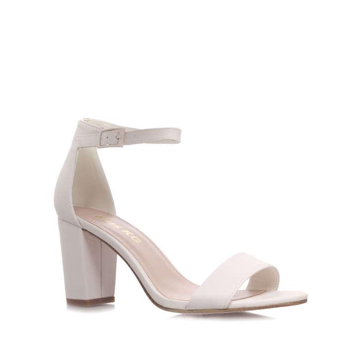 Paige White Mid Heel Sandals By Miss KG | Kurt Geiger