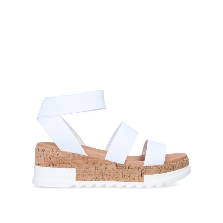 BANDI White Chunky Flatform Sandals by